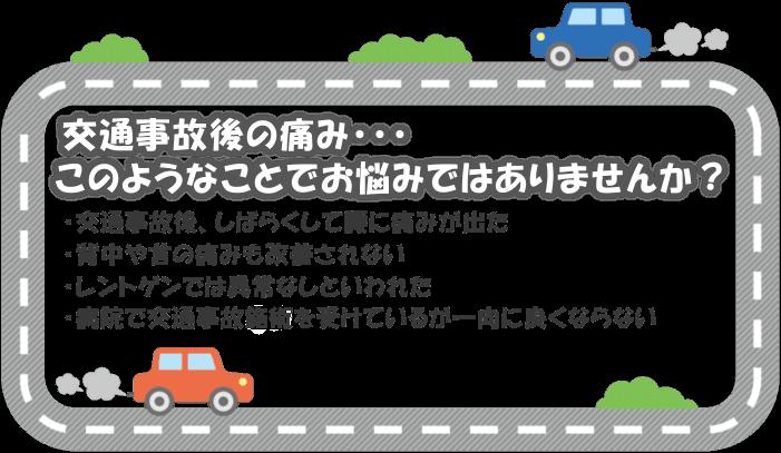 交通事故後の悩み