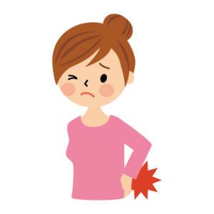 女性の腰痛イラスト
